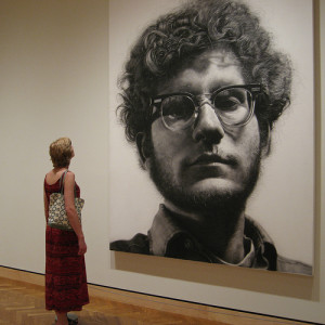 """Frank"" by Chuck Close.  Photo by Tim Wilson."